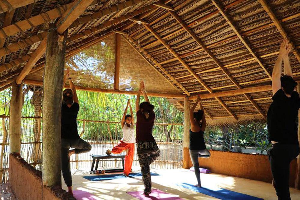 Yoga at Palagama Beach